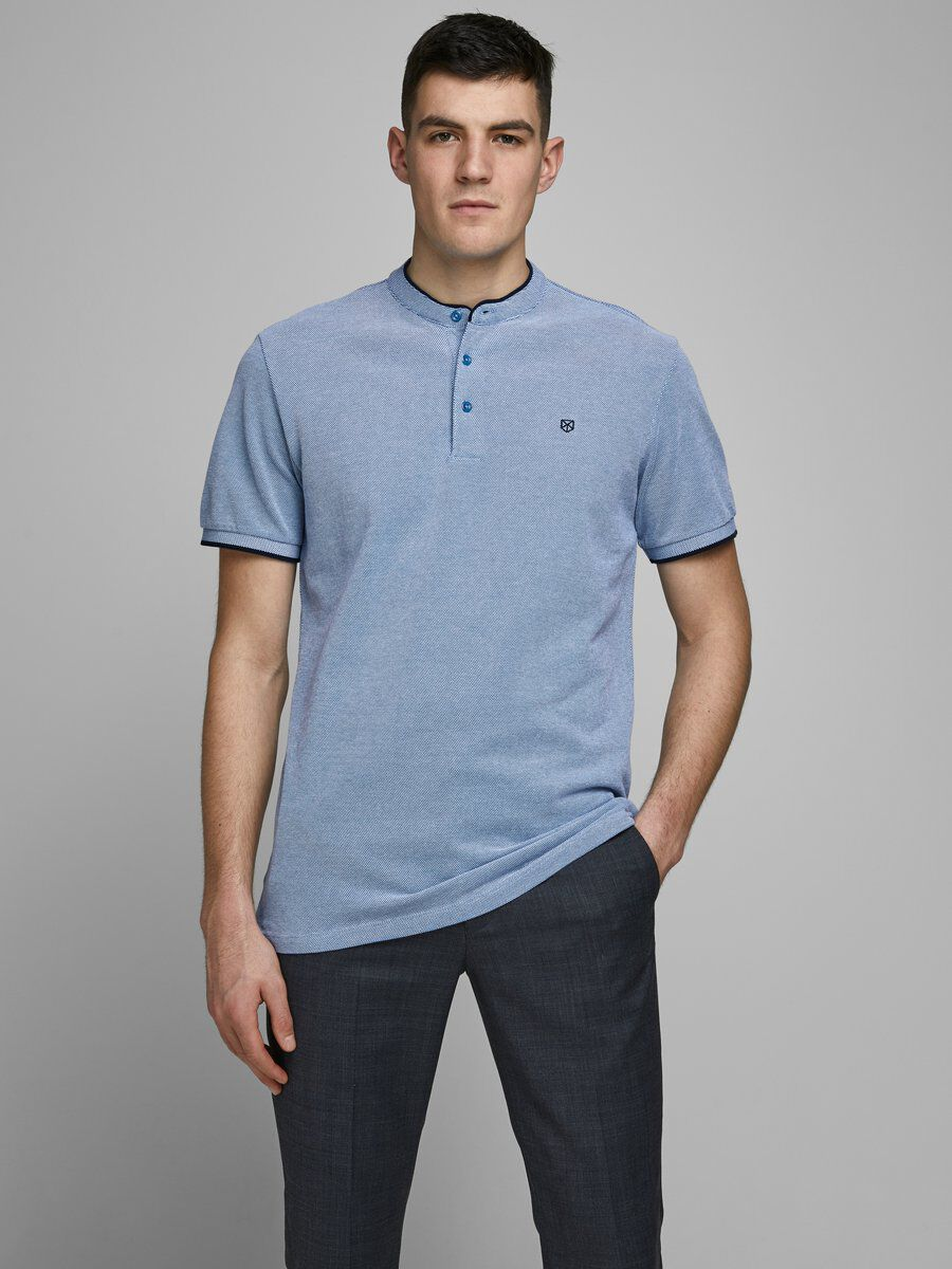 Jack /& Jones Men/'s Polo Shirt Slim Fit basic T-Shirt  in Various colours