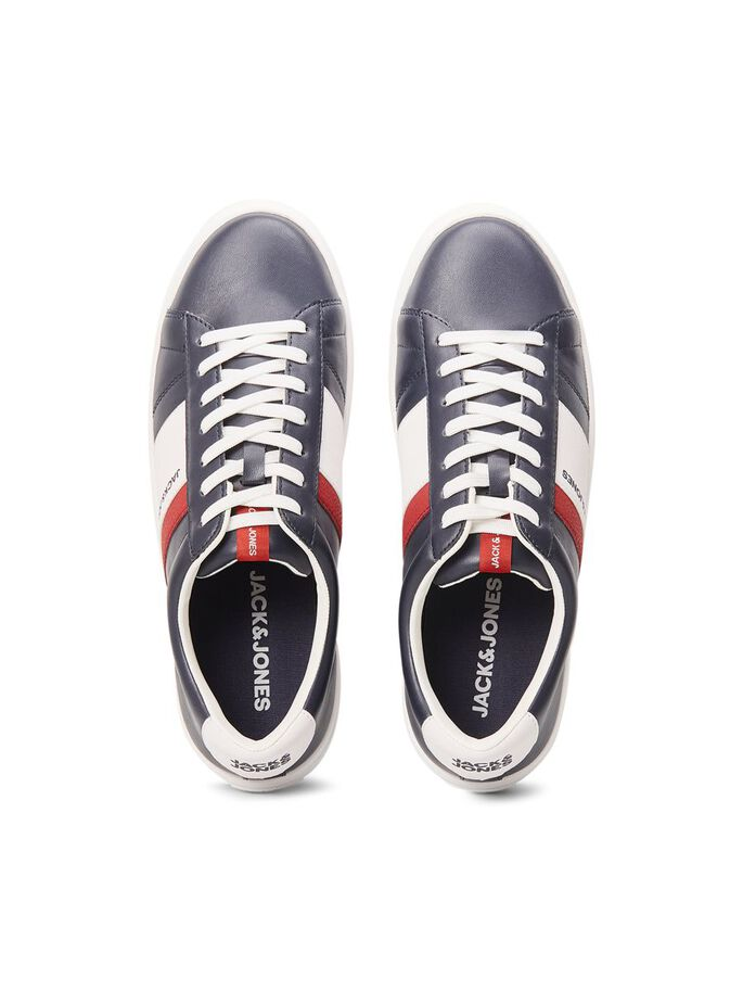 CONTRAST COLOUR FAUX LEATHER SNEAKERS, Navy Blazer, large