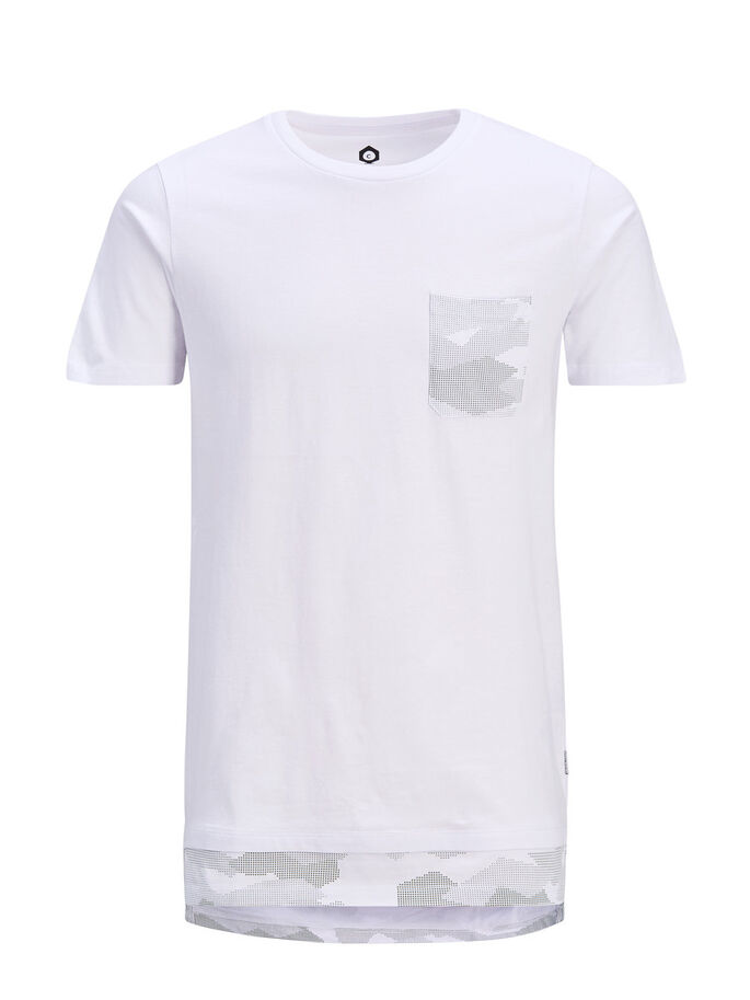 CAMO T-SHIRT, White, large