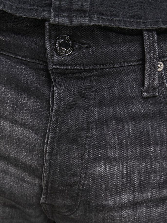 FRED ICON JOS 142 50SPS TAPERED FIT JEANS, Black Denim, large