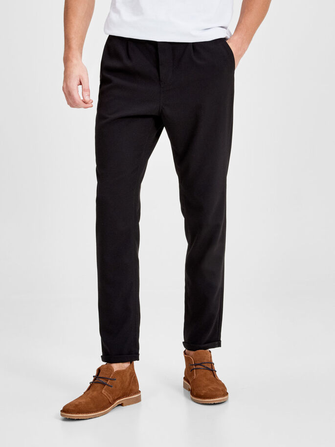 ROBERT FASH WW BLACK CHINO, Black, large