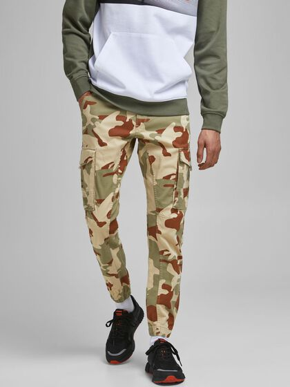 PAUL FLAKE AKM CAMO CARGO TROUSERS