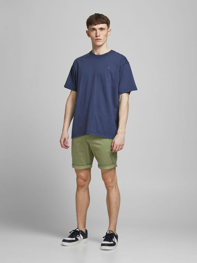 BOWIE SOLID CHINO SHORTS, Deep Lichen Green, large