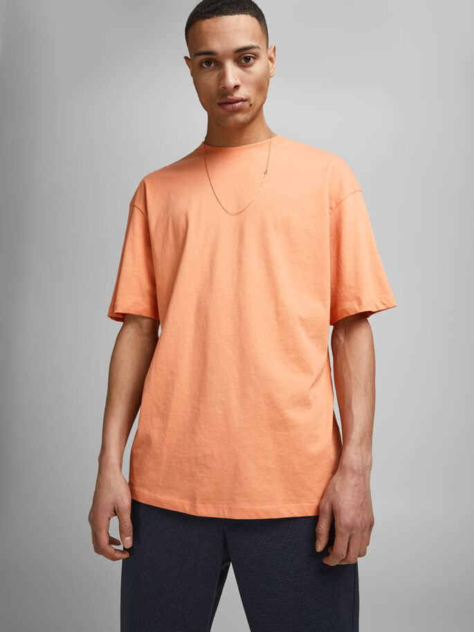 BOXY FIT BOMULDS T-SHIRT, Shell Coral, large