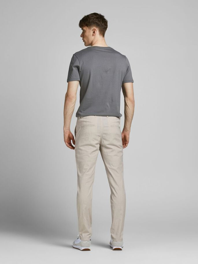 MARCO DAVE LINNEN CHINO, White Pepper, large