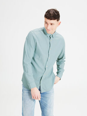 DENIM SUAVE CAMISA DE MANGA LARGA
