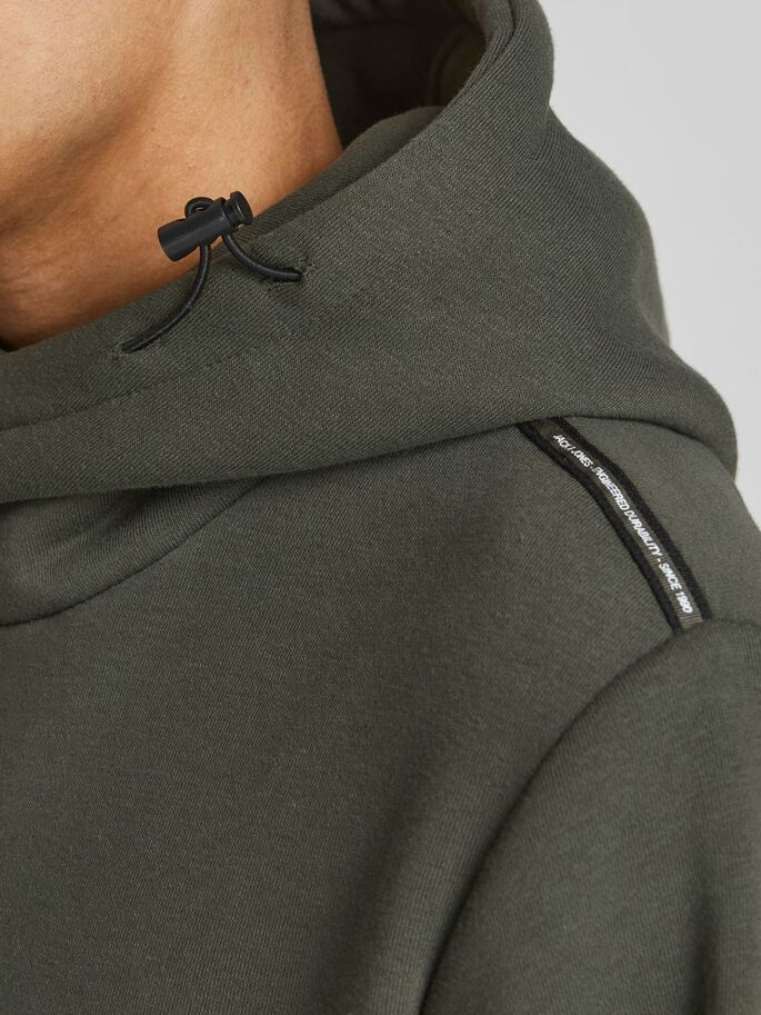 LOOPBACK HOODIE, Forest Night, large