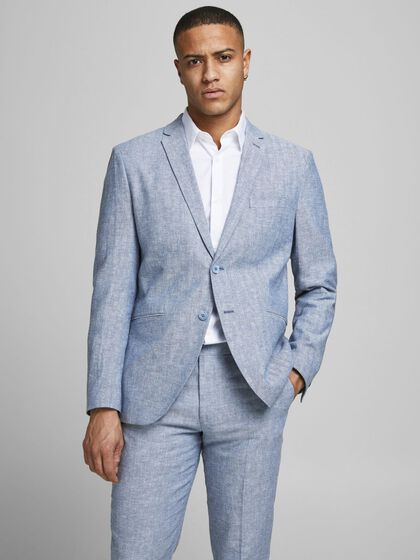 SUPER SLIM FIT LINEN BLAZER