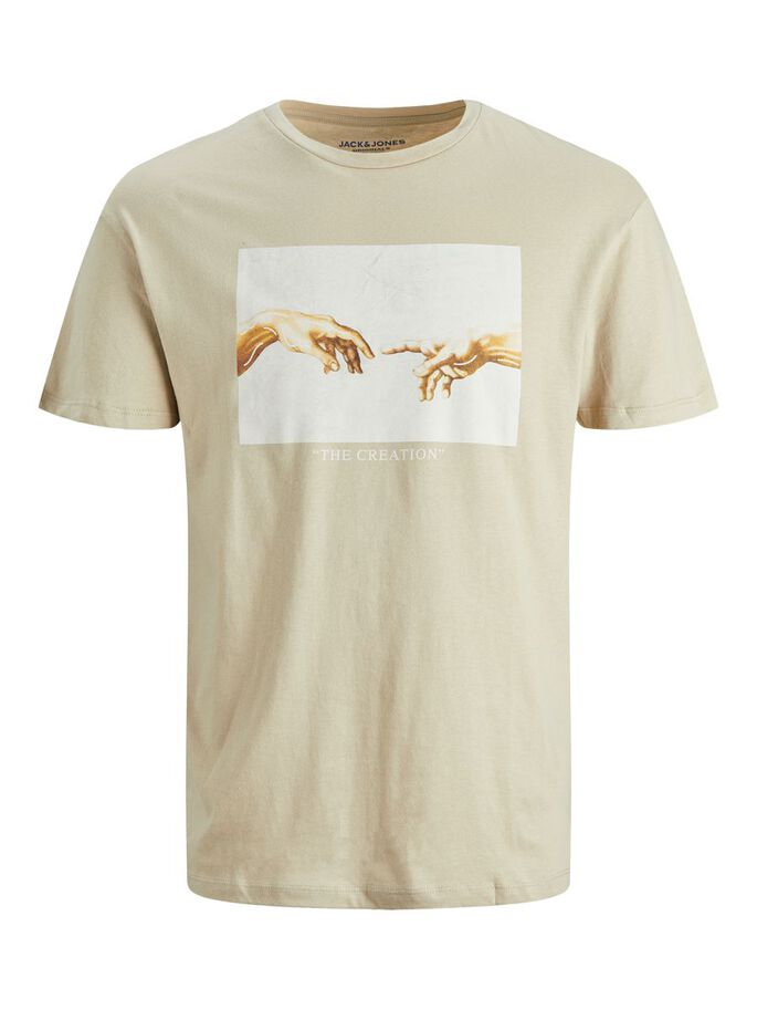 RELAXED FIT T-SHIRT, White Pepper, large