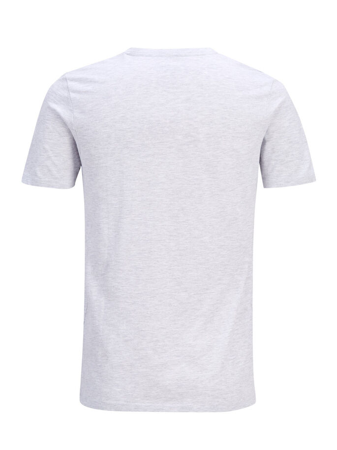 PRINTED T-SHIRT, White, large