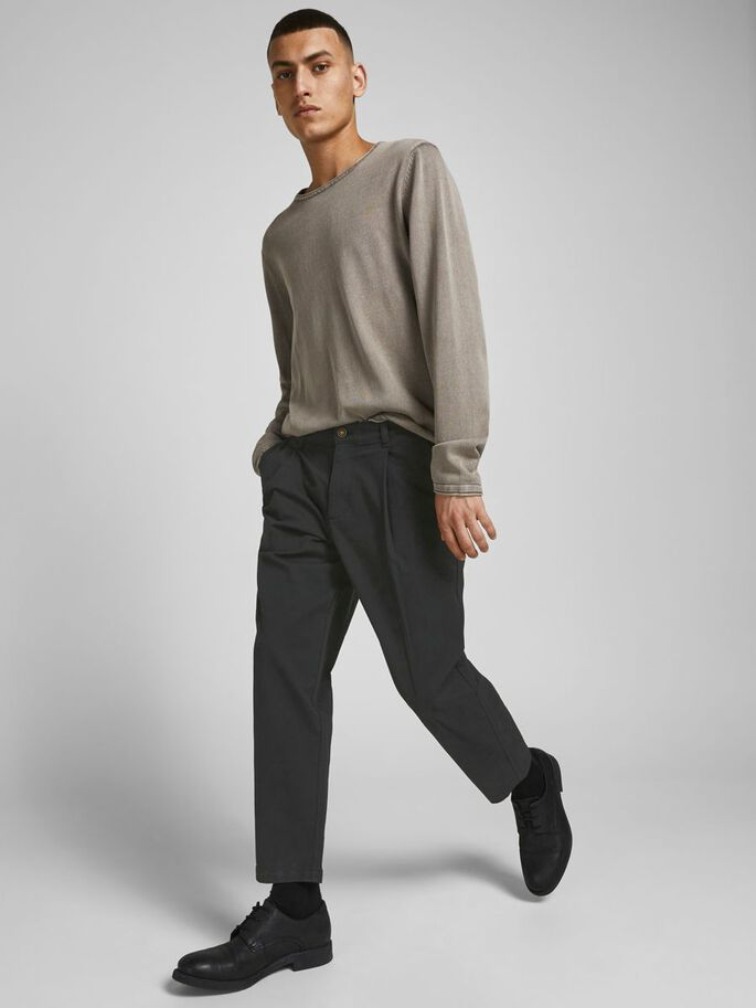 BILL RICO CROPPED AKM CHINO, Black, large