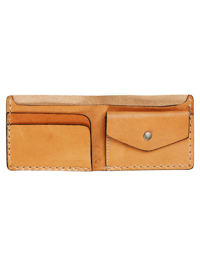 GENUINE LEATHER WALLET, Oatmeal, large