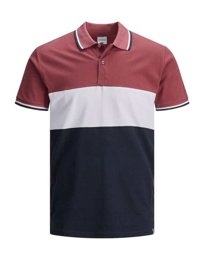 BLOCK STRIPE PIQUE POLO SHIRT, Hawthorn Rose, large
