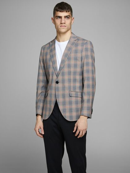 FLEXIBLE CHECKED BLAZER