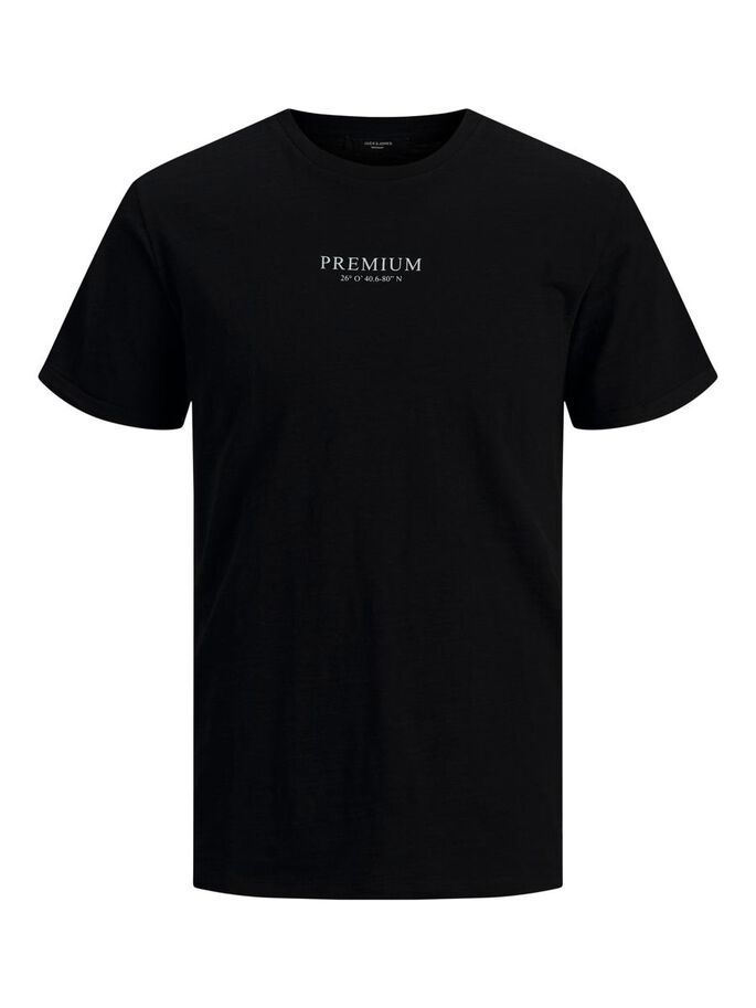 REGULAR FIT T-SHIRT, Black, large