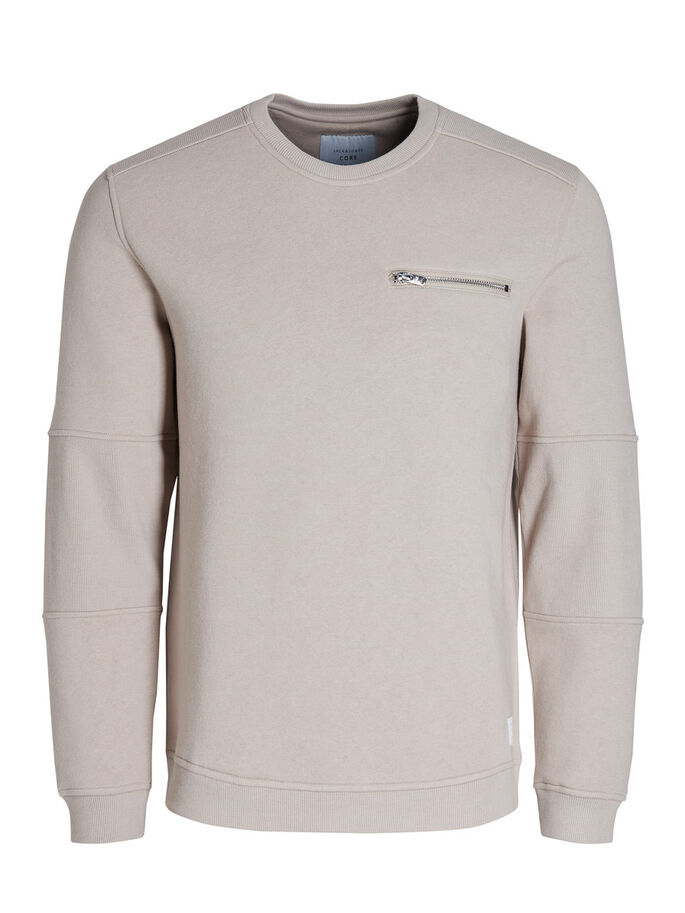DETAILLIERTES SWEATSHIRT, Simply Taupe, large