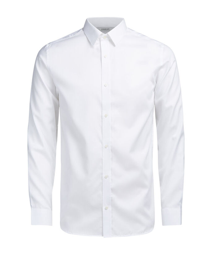 BUTTON-UNDER LONG SLEEVED SHIRT, White, large