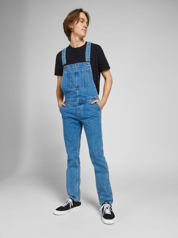 MIKE AM 256 OVERALL, Blue Denim, large