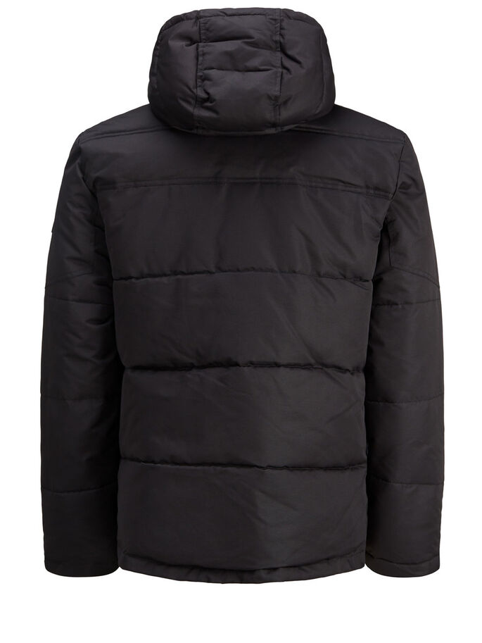 PADDED PUFFER JACKET, Black, large