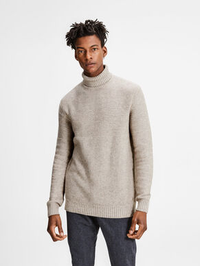 WOOL BLEND KNITTED PULLOVER