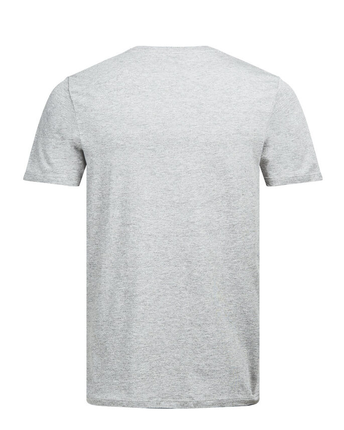 PHOTO PRINT T-SHIRT, Light Grey Melange, large