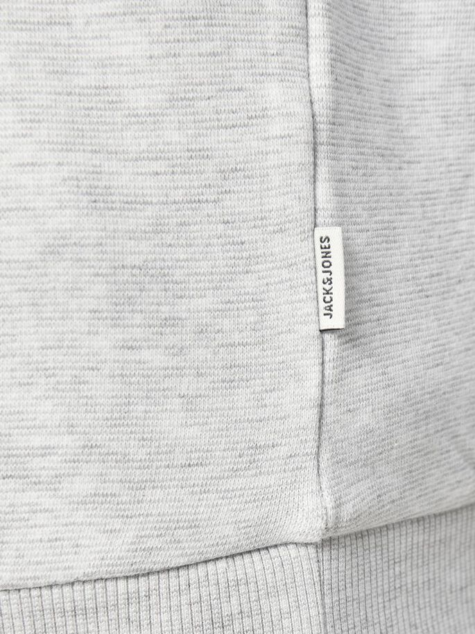 LOOPBACK PLUS SIZE SWEATSHIRT, Light Grey Melange, large