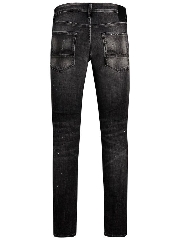 GLENN FOX GE SPS SLIM FIT JEANS, Black Denim, large