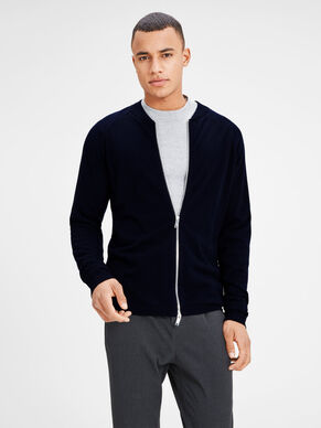 BOMBER KNITTED CARDIGAN