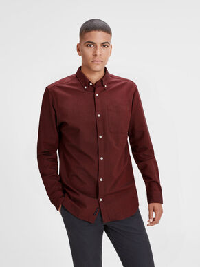 OXFORD WEAVE LONG SLEEVED SHIRT
