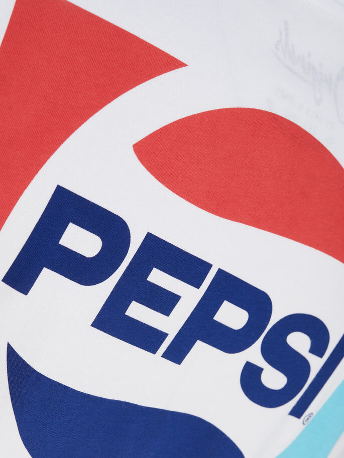 PEPSI T-SHIRT À MANCHES LONGUES, White, large