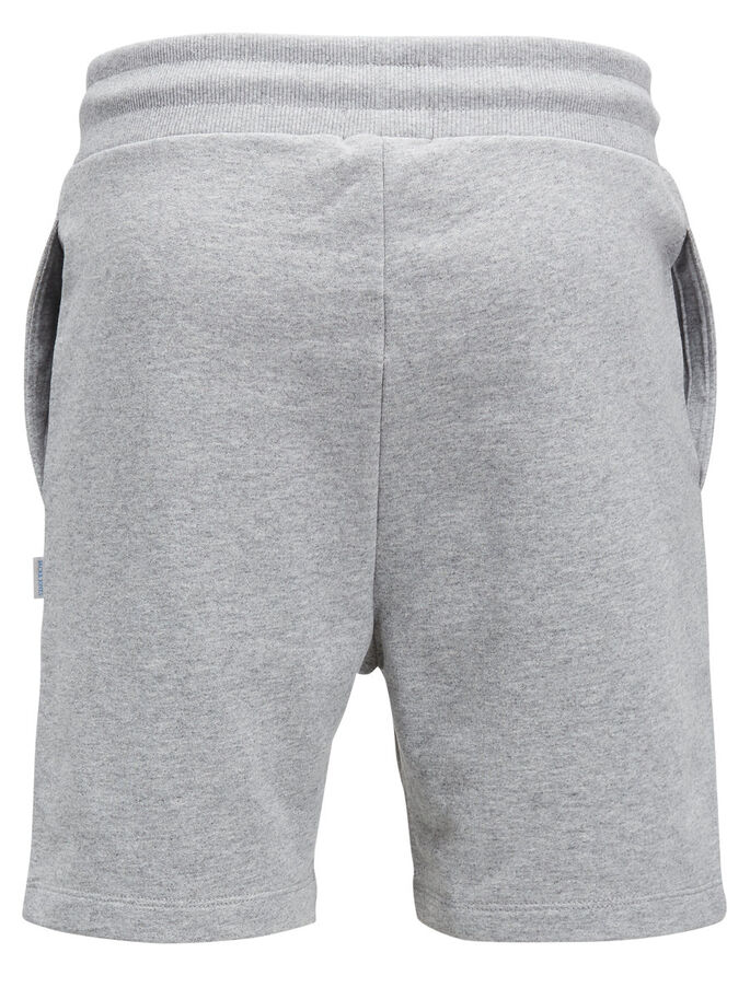 CASUAL SHORTS IN FELPA, Light Grey Melange, large