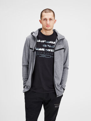 TECHNICAL ZIP-UP SWEATSHIRT