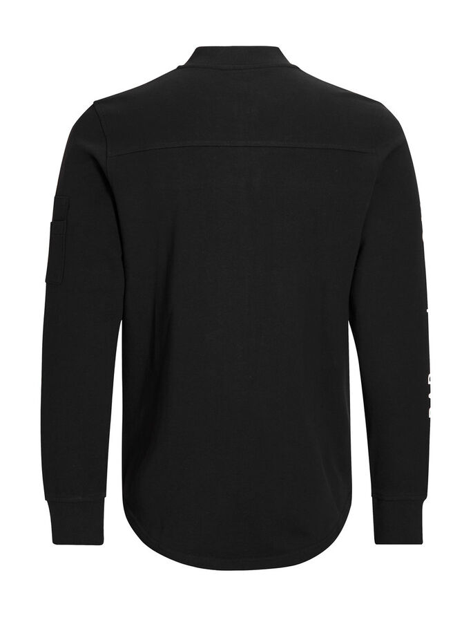 IMPRIMÉ SWEAT-SHIRT, Black, large