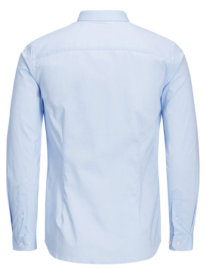 CASUAL SLIM FIT LONG SLEEVED SHIRT, Cashmere Blue, large