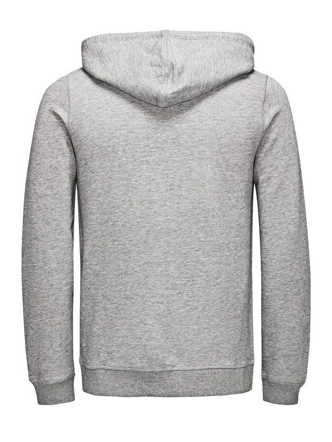 RECYLING-REISSVERSCHLUSS SWEATSHIRT, Light Grey Melange, large