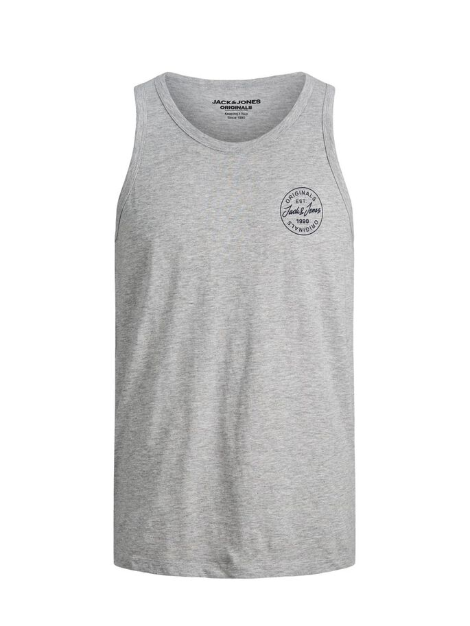 KLEINES LOGO TANKTOP, Light Grey Melange, large