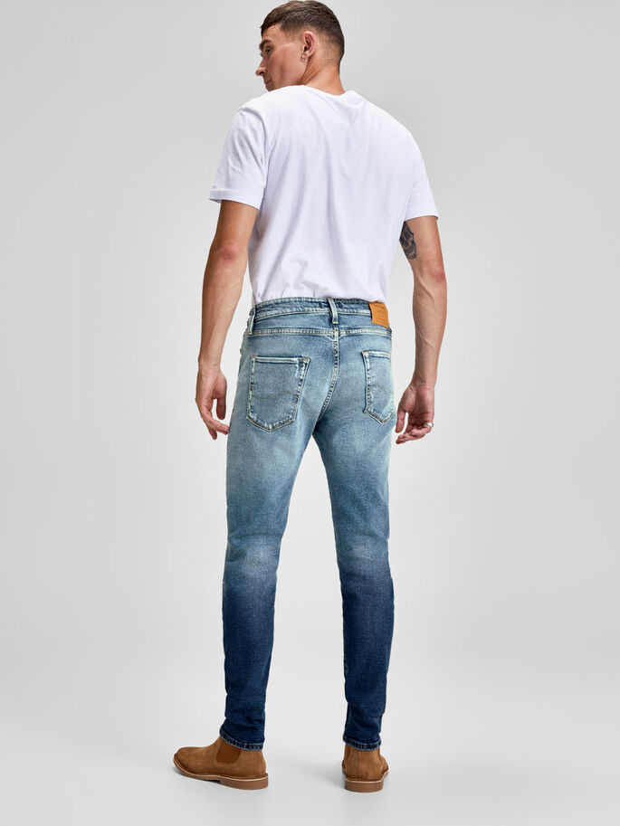 5b223d481b28b FRED ICON BL 818 TAPERED FIT JEANS, Blue Denim, large