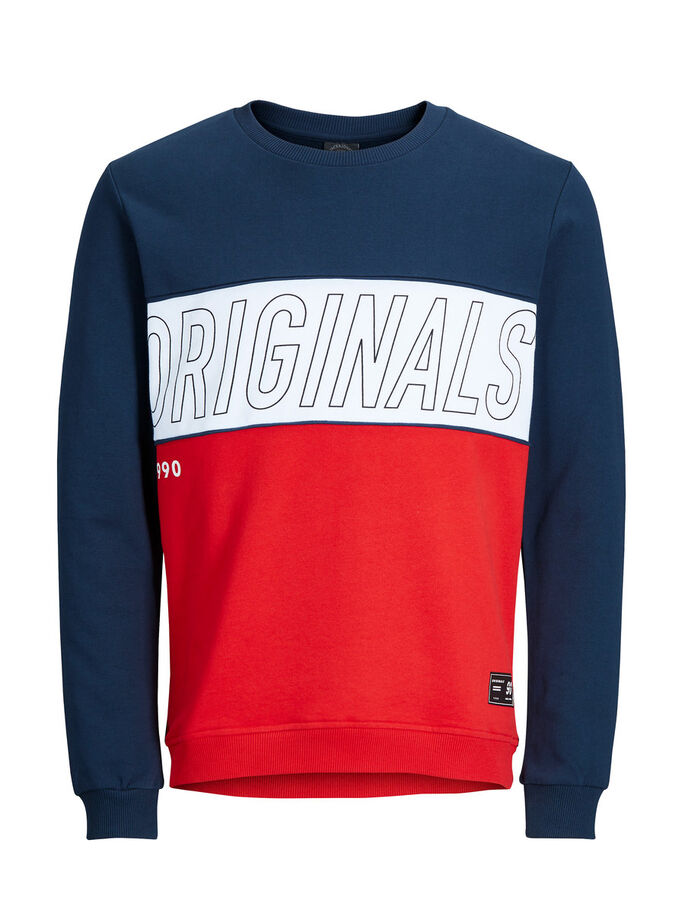 CLASSIC SWEATSHIRT, Fiery Red, large