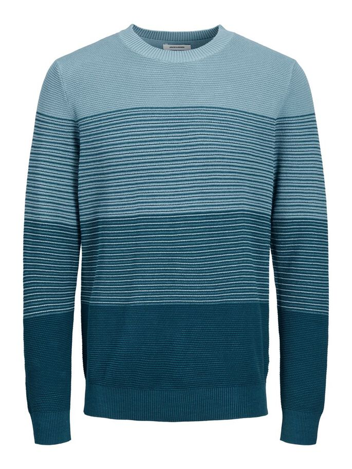 RAIDALLINEN NEULEPAITA, Sailor Blue, large