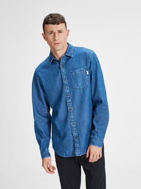 CASUAL DENIM LANGARMHEMD