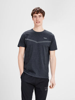 ENFÄRGAD SPORTIG REGULAR FIT T-SHIRT