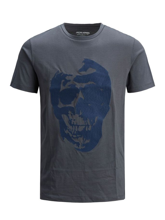 REGULAR FIT SUGAR SKULL T-SHIRT, Ombre Blue, large