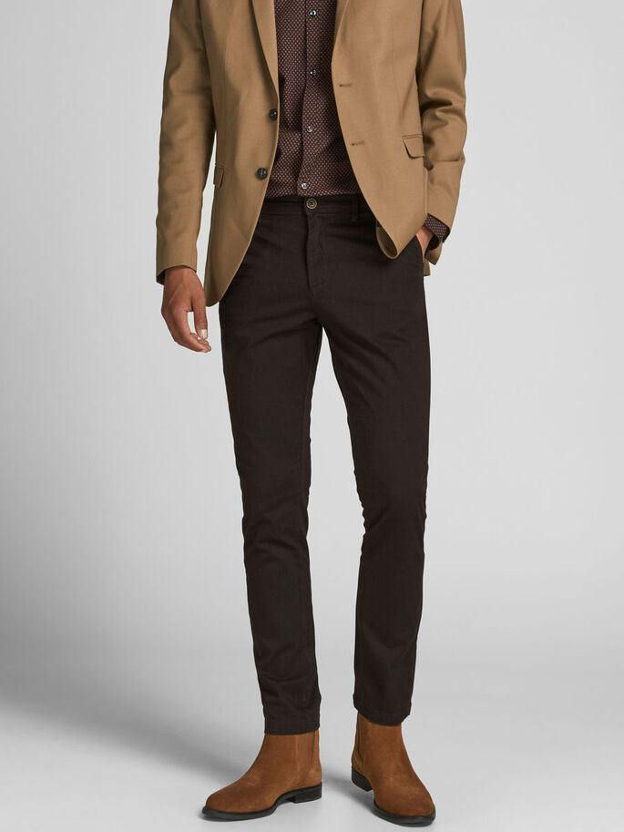 MARCO BOWIE CHINOS, Black Coffee, large