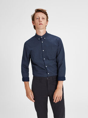 BUTTON-DOWN LANGERMET SKJORTE
