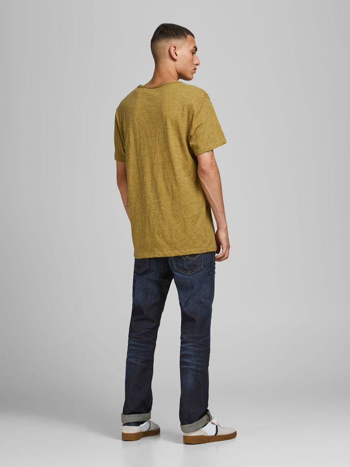 ROLL EDGE V-NECK T-SHIRT, Sauterne, large