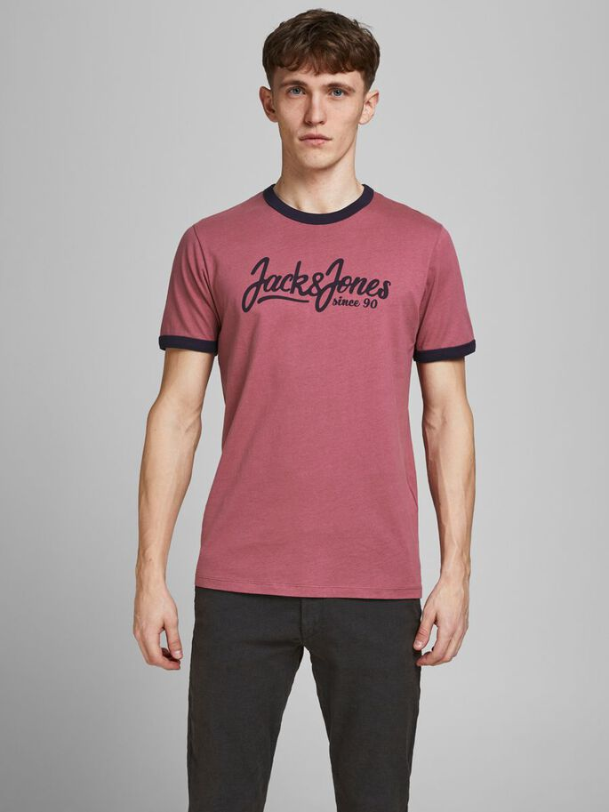 OURLET CONTRASTANT, COUPE SLIM T-SHIRT, Hawthorn Rose, large