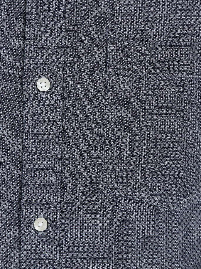 BUTTON-DOWN OVERHEMD MET LANGE MOUWEN, Chambray Blue, large