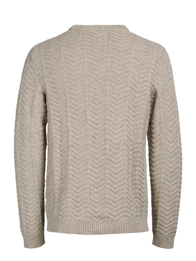 ZOPFSTRICK- STRICKPULLOVER, Oatmeal, large