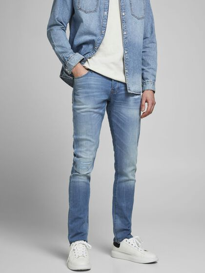 GLENN ICON GE 276 INDIGO KNIT SLIM FIT -FARKUT