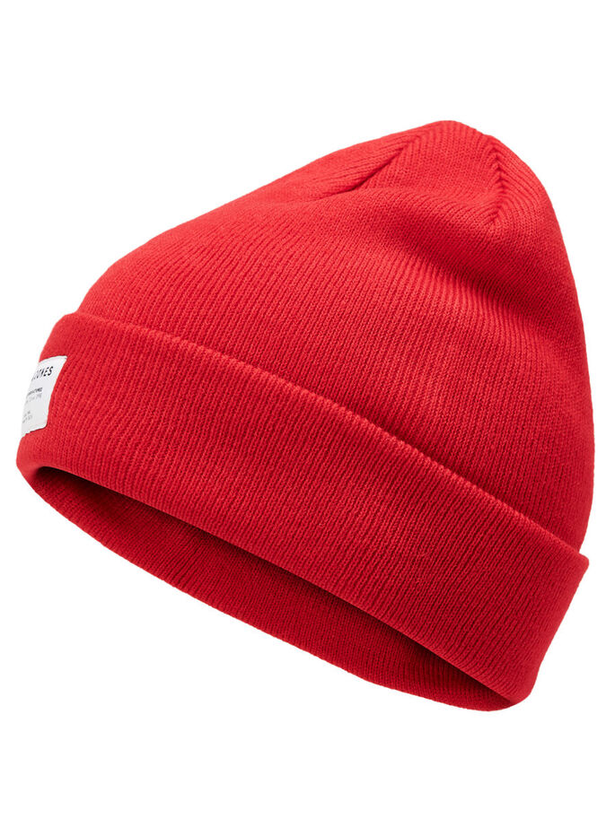 KLASSISK BEANIE, Fiery Red, large